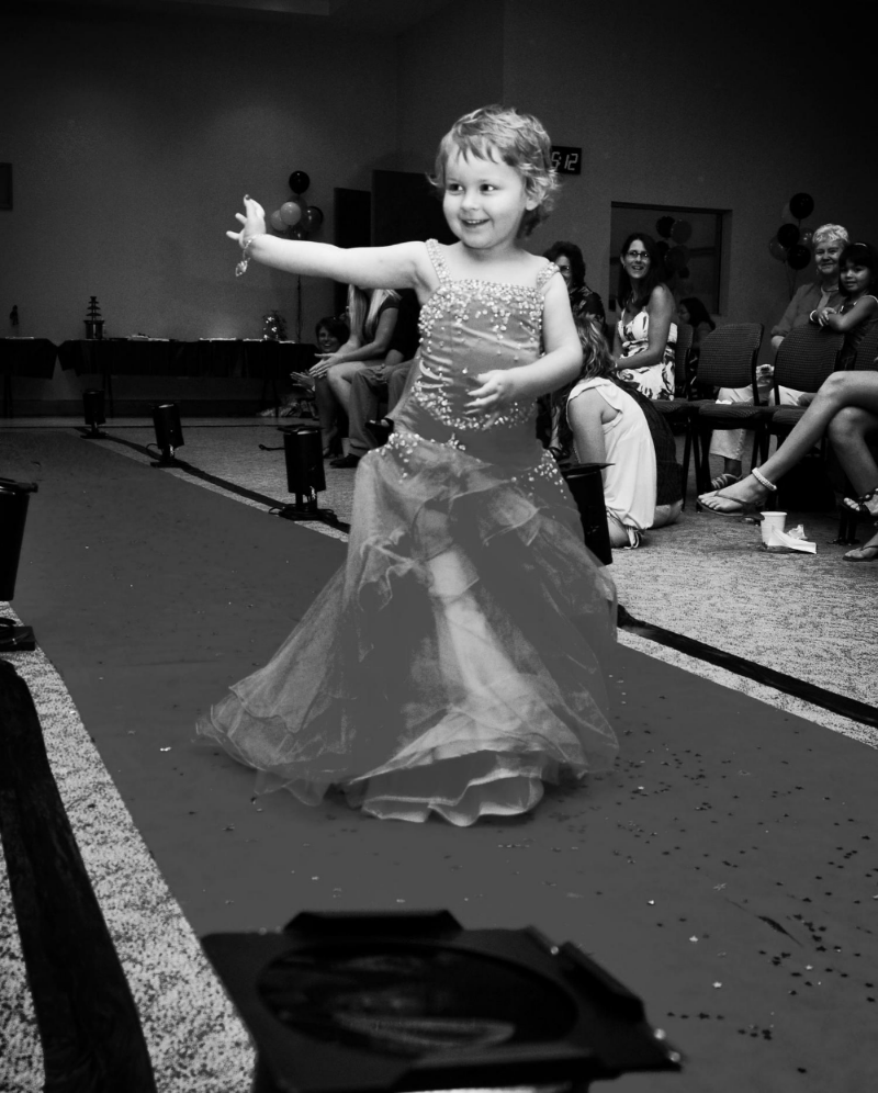 Allie at the Fashion Show
