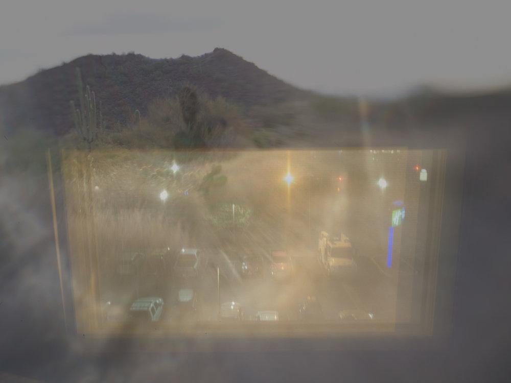 Old Tucson saguaros / El Paso parking lot