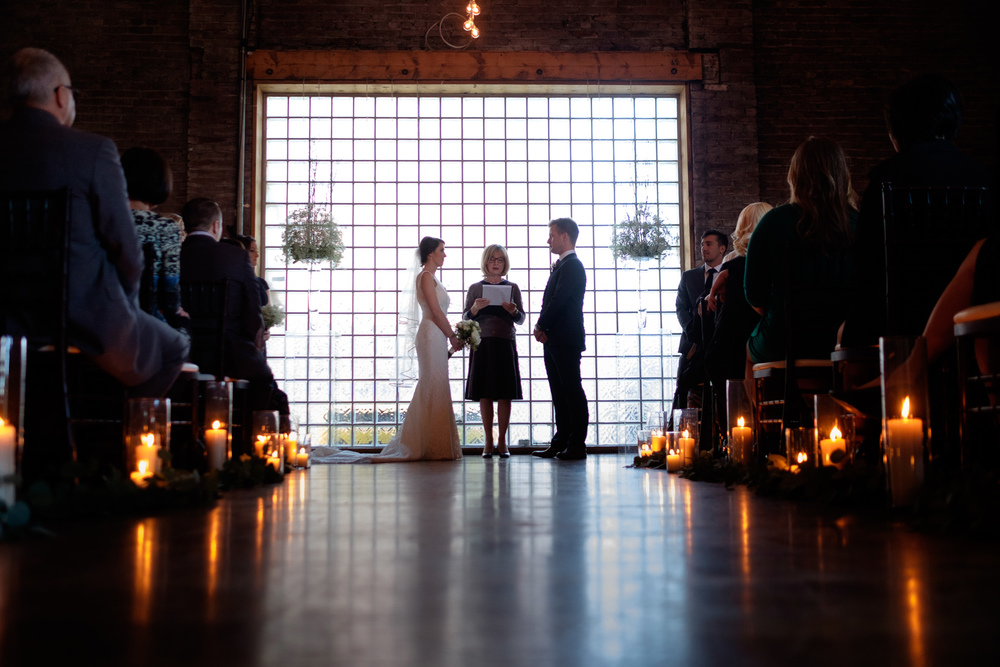 A Photograph Of The Wedding Ceremony From Emilie Johns At 99 Sudbury In Toronto