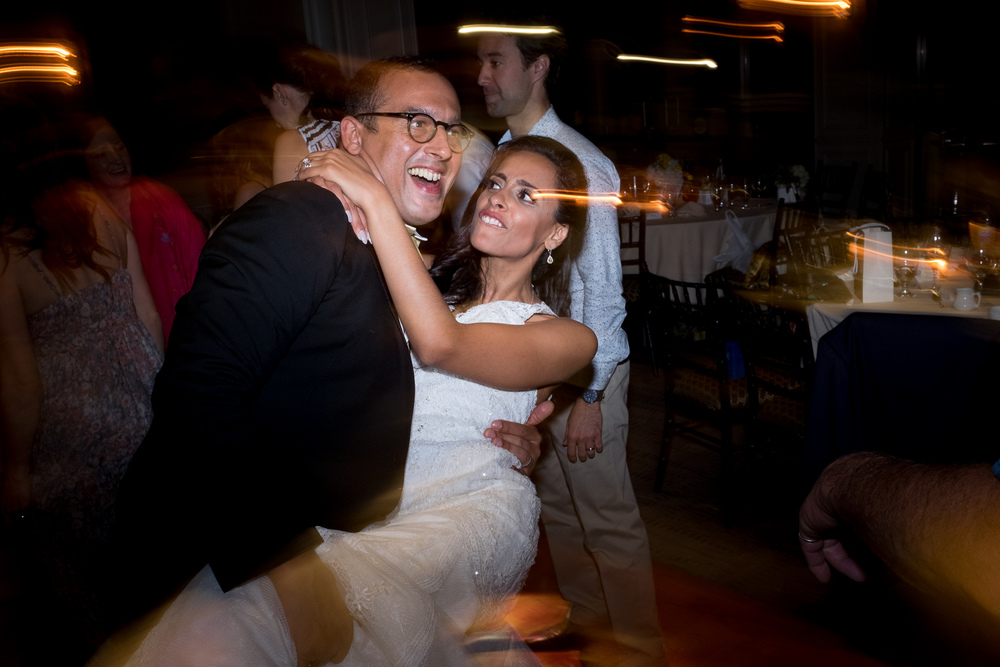 Olivia + David dance the night away during their wedding reception at Copper Creek Golf Course in Toronto.