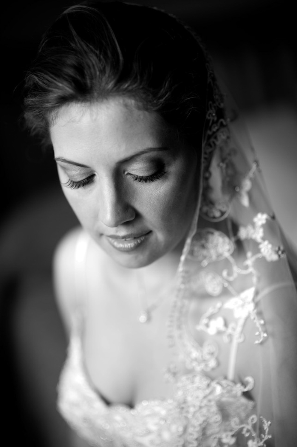 A natural light portrait of a bride before her Greek Orthodox wedding in London, Ontario.