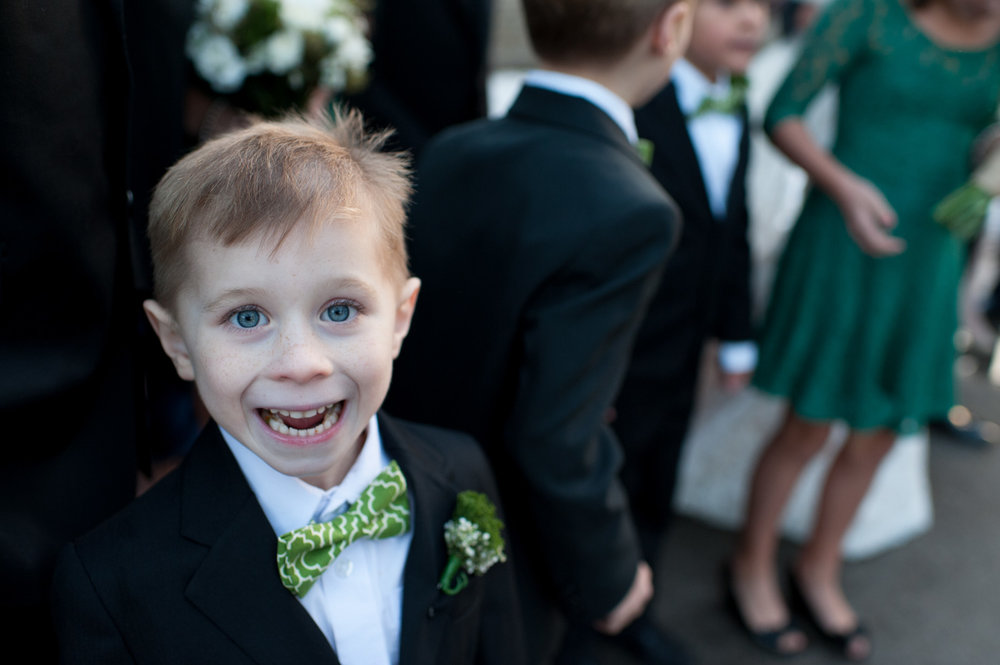 Love the expression on this little ringbearers just after the ceremony had finished at this Enoch Turner Schoolhouse wedding in downtown Toronto.