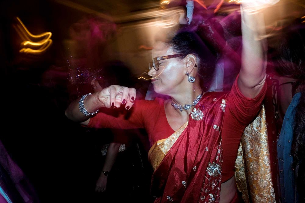 guest dances during the wedding reception at Toronto's liberty grand