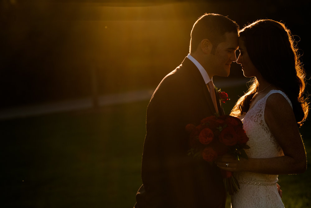A beautiful sunset portrait from Alex + Bobby's intimate Langdon Hall wedding.  Whenever I can, I always try and sneak my couples out of the reception for a few minutes of portraits during the golden hour.