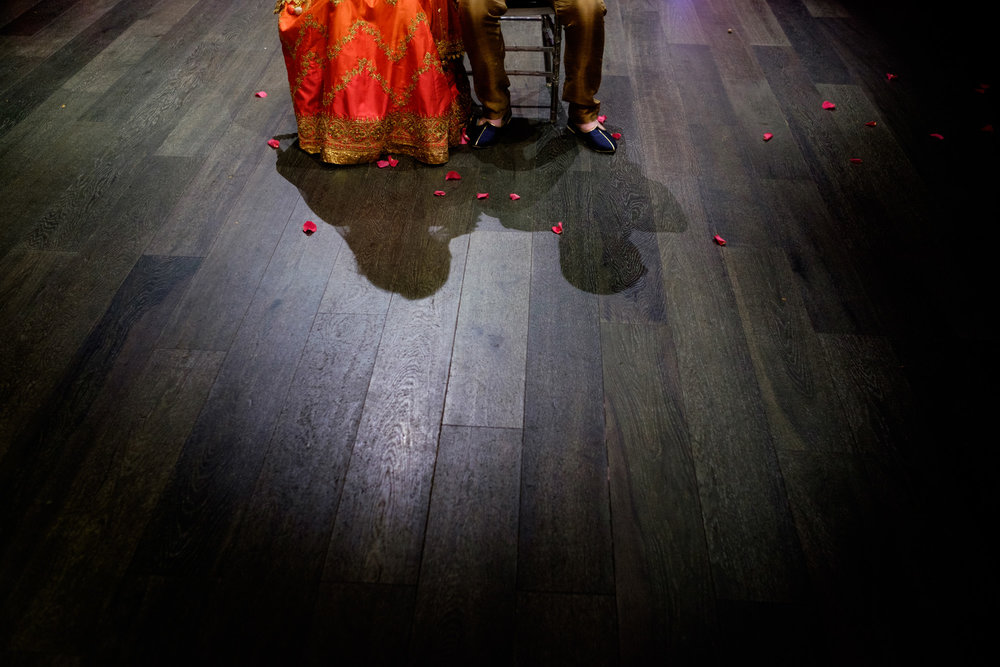 A photograph from Noor + John's mehndi ceremony at the Grand Luxe Event Boutique in Toronto.