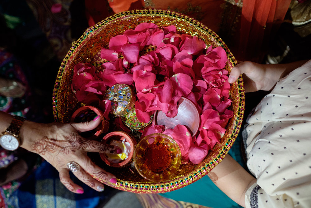 A detail photograph from Noor + John's Mehndi ceremony at the Grand Luxe Event Boutique in Toronto.