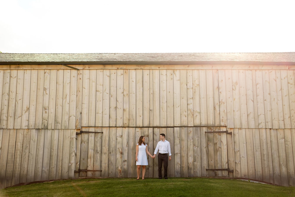 A photograph from Jennifer + Andrew's pre- wedding engagement session at the Markham Museum in Markham, Ontario by Toronto Wedding Photographer Scott Williams.
