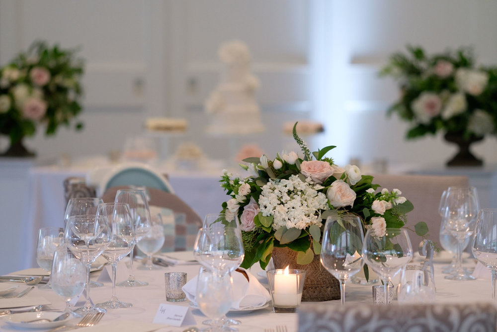 A wedding photograph of some of the details of the reception room at Teresa & Robert's Langdon Hall wedding in Cambridge, Ontario.