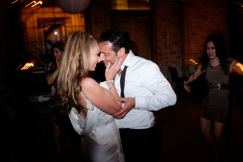 Cindy + Enrico dance the night away during their wedding reception at Archeo in Toronto's Distillery District.