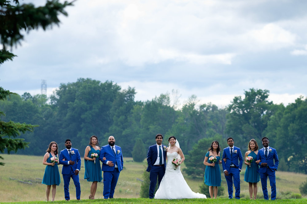 A portrait of the wedding party at Waterstone  Estates in Toronto.