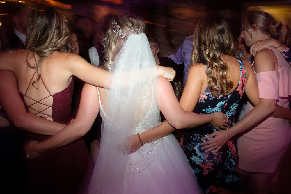 Alex dances with her friends late into the night during her reception at the Hessenland Inn.