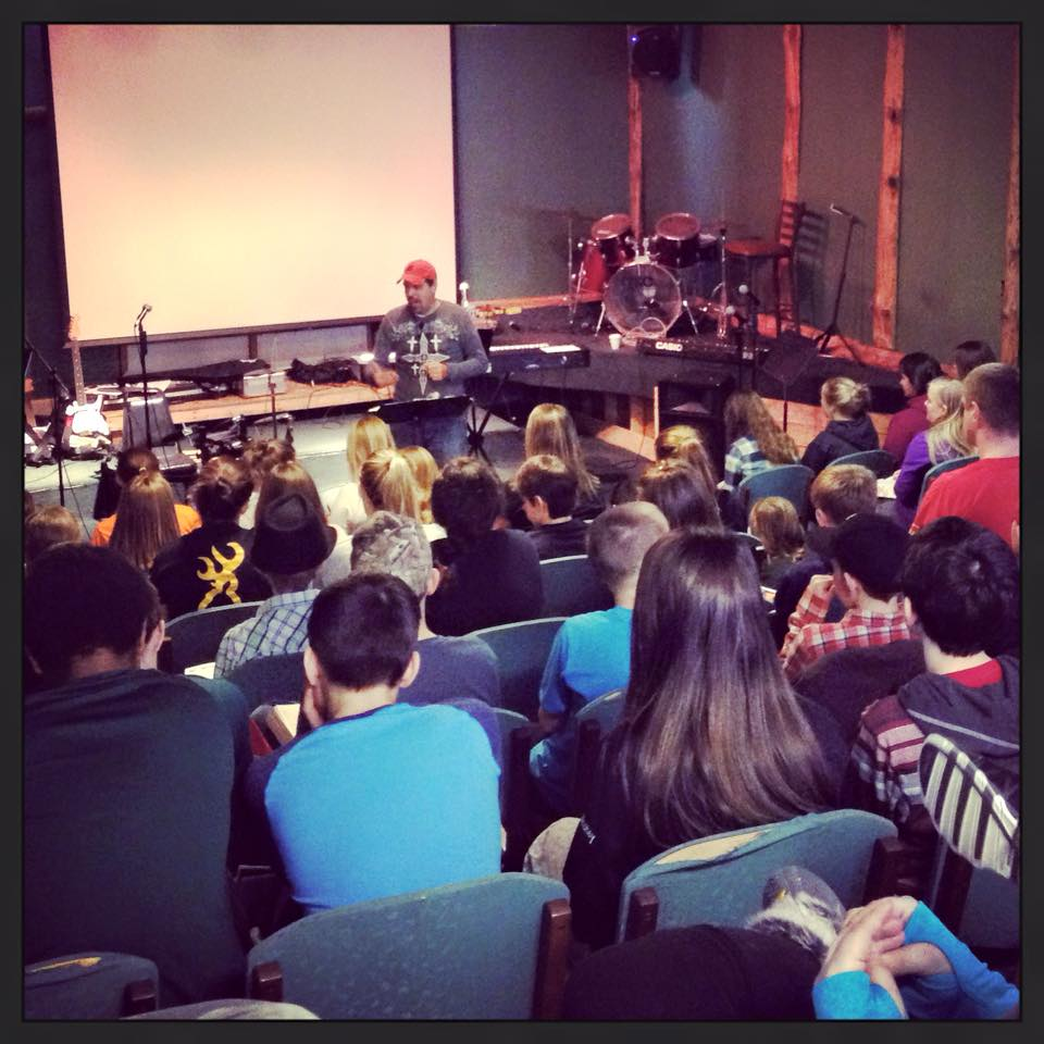 Me speaking to JH students at Starwood Ranch