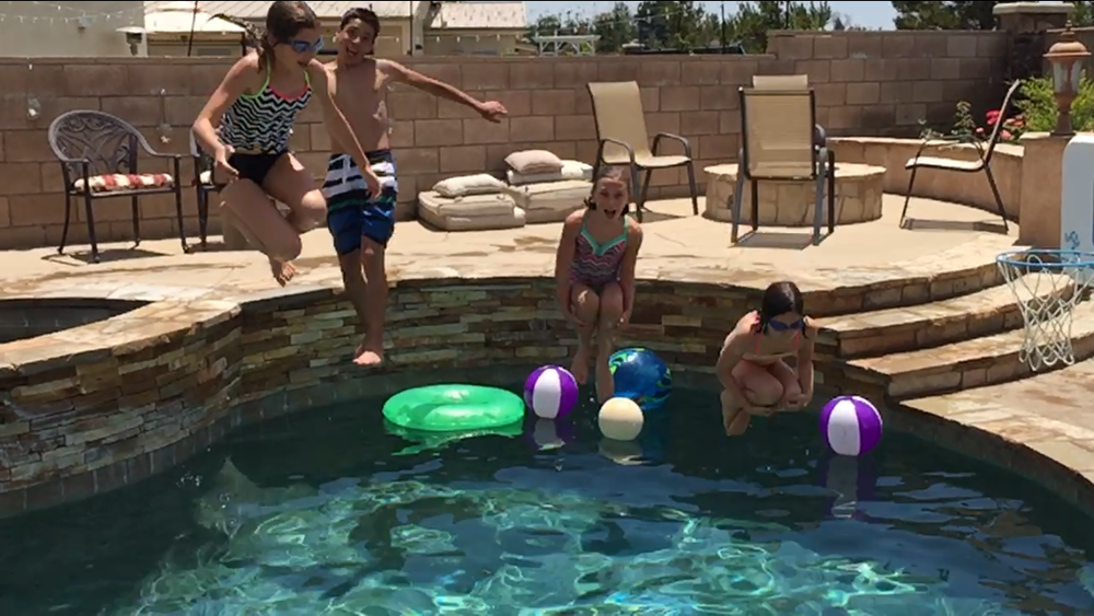 The kids enjoyed hours of pool time this summer, thanks to the kindness of others!