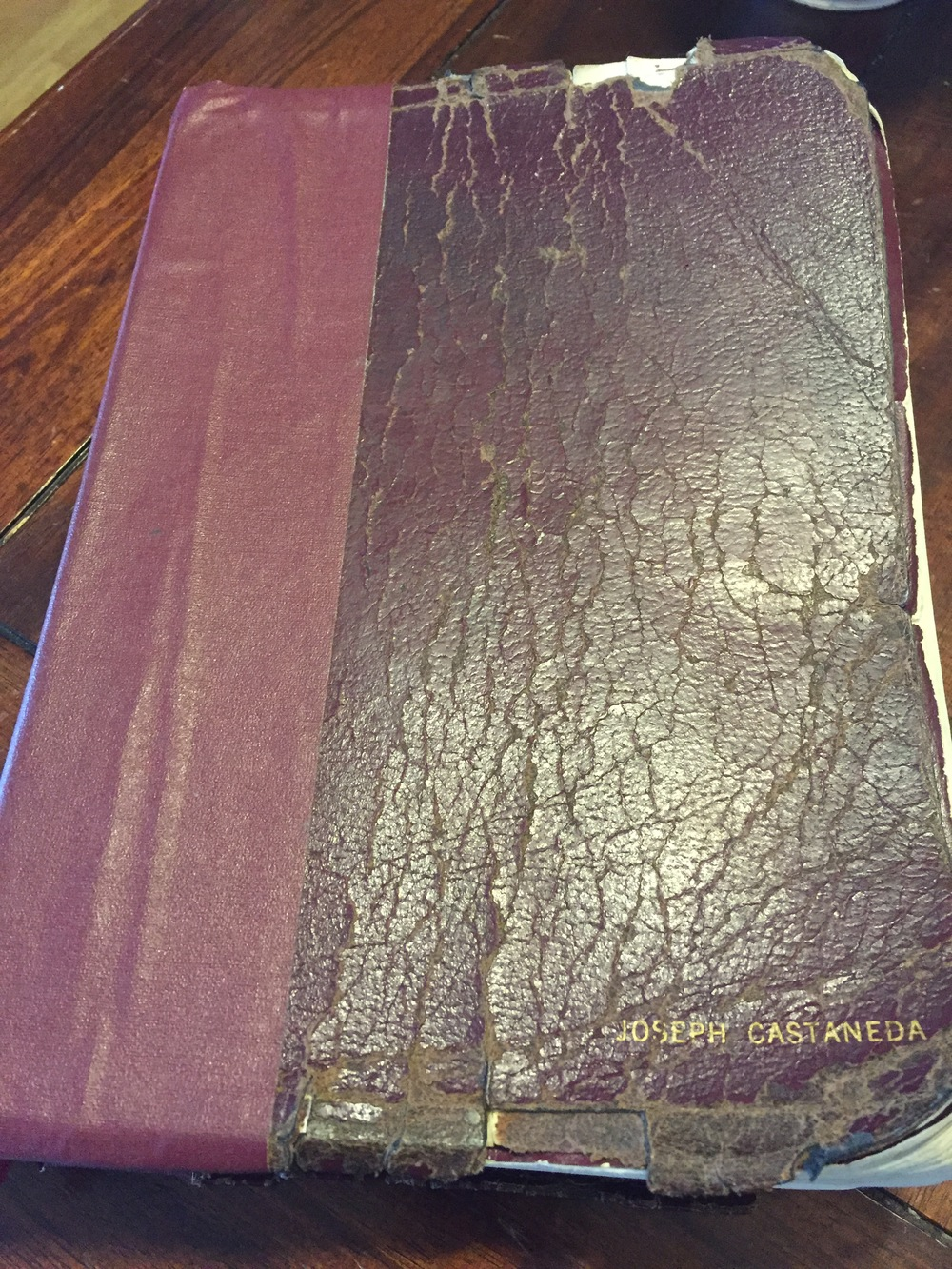 My parents gave me this Bible when I was 18. It may not look great, but it's content is priceless!