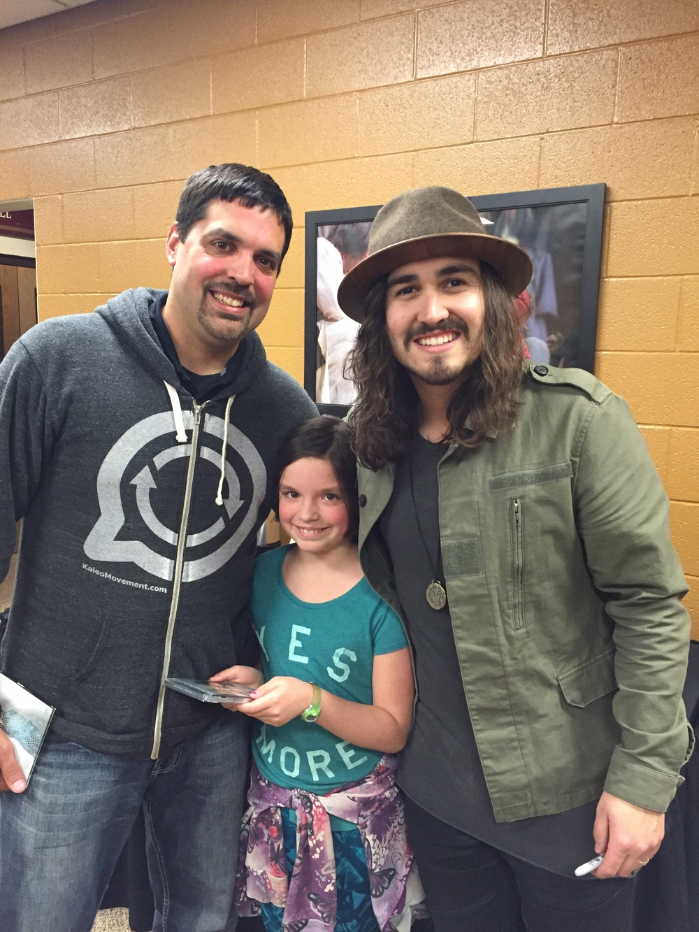 Me and CJ enjoying a photo op with Jordan Feliz!