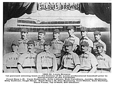 The 1885 champions of Baseball, St. Louis Browns.