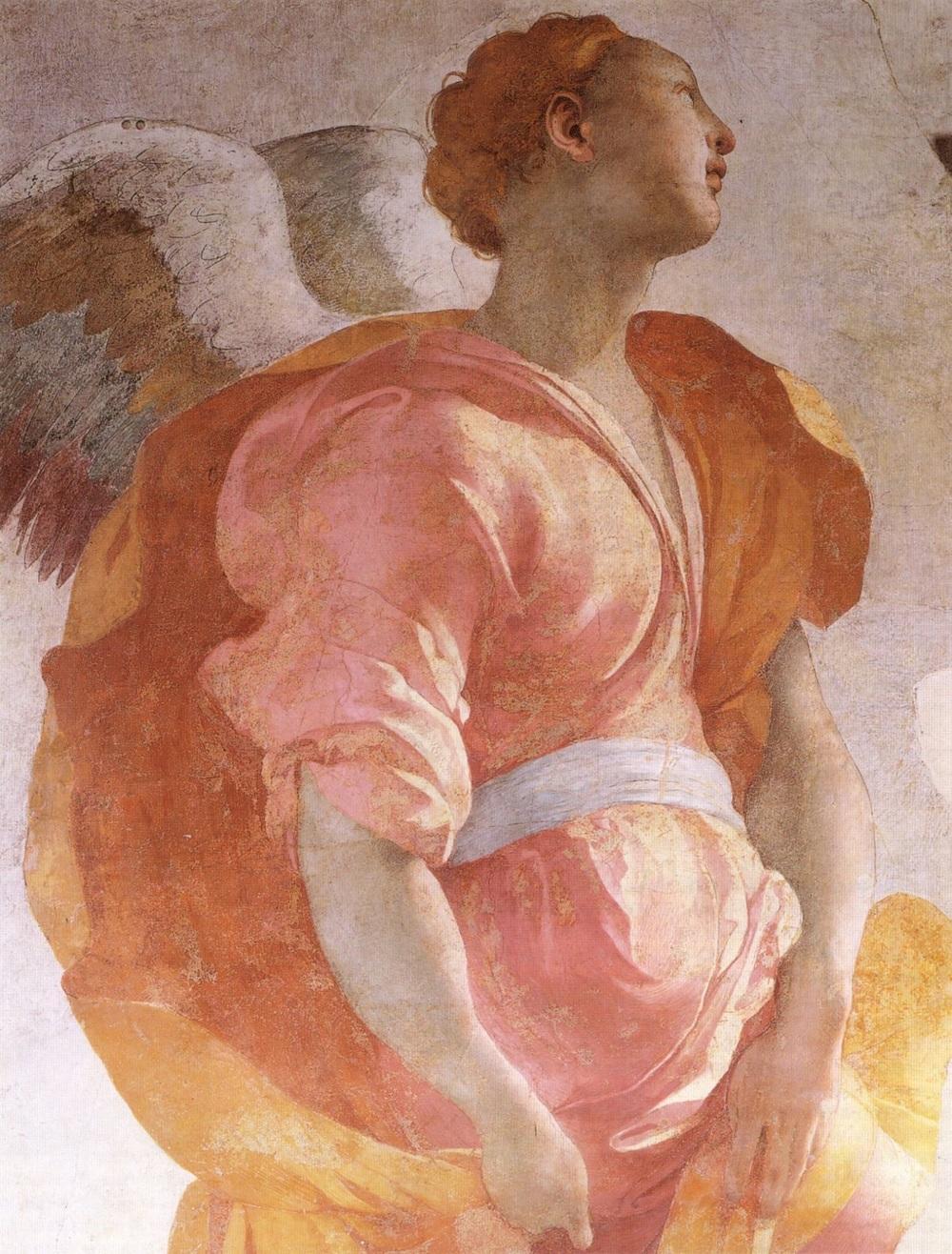 """Annunciation"". Detail. Pontormo, 1520's."