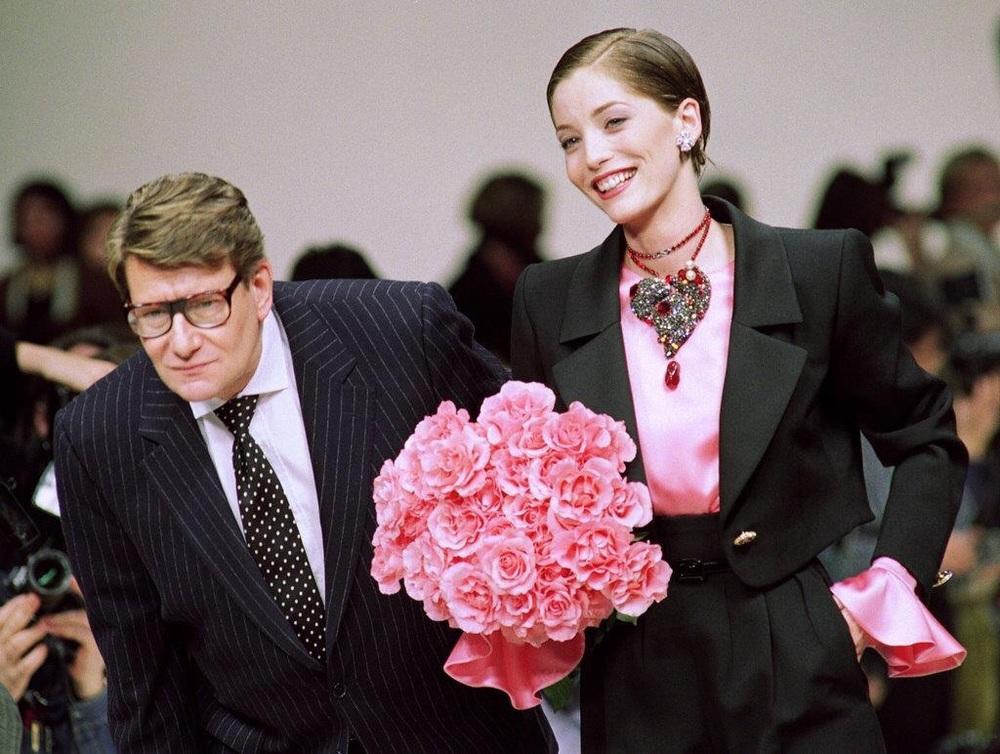 ★ YSL rts fw 1993/94 ★ Yves Saint Laurent et Lucie de la Falaise