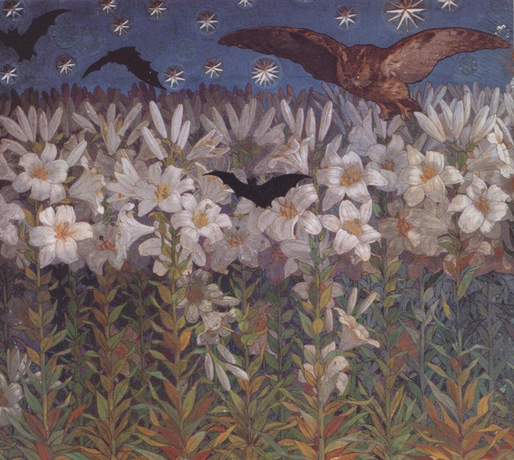 At Night by Achille Casanova (1861-1948)  medium unknown, ca. 1894-7
