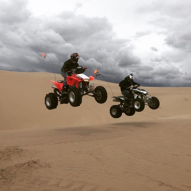 A little R&R at the dunes. #atv #utah