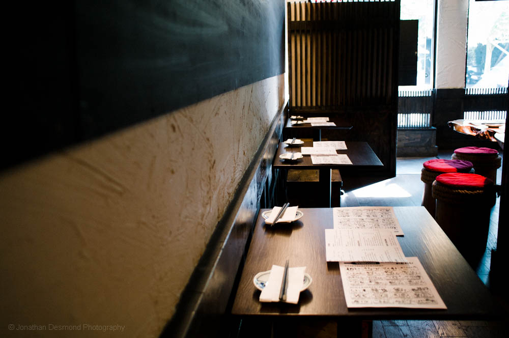 This was taken just moments before the doors opened and some customers came in to try out this new Izakaya!
