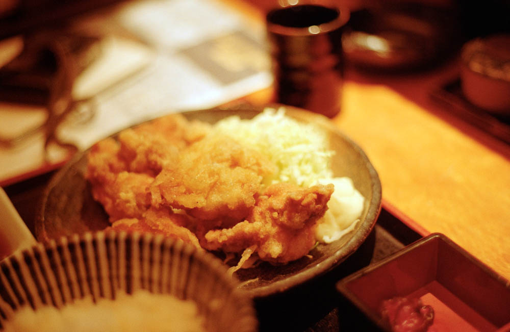 Roppongi (Tokyo Midtown), Tokyo - One of our many amazing Japanese meals. The chicken karaage here was delicious!