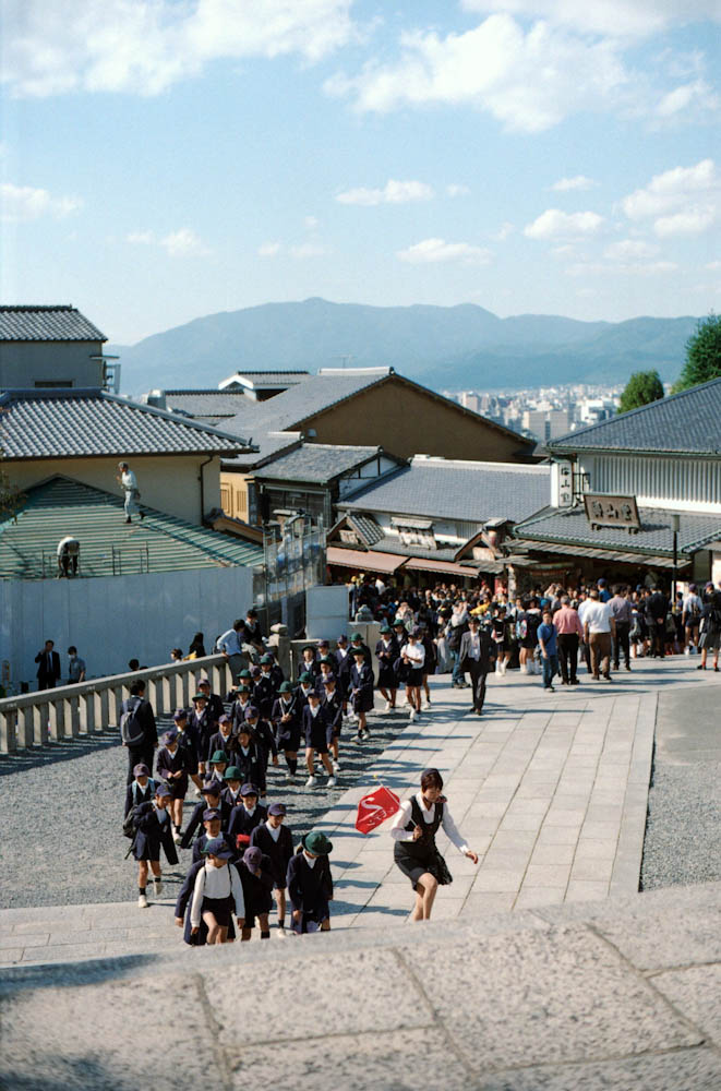 Children school groups were everywhere in Kiyomizu-dera.