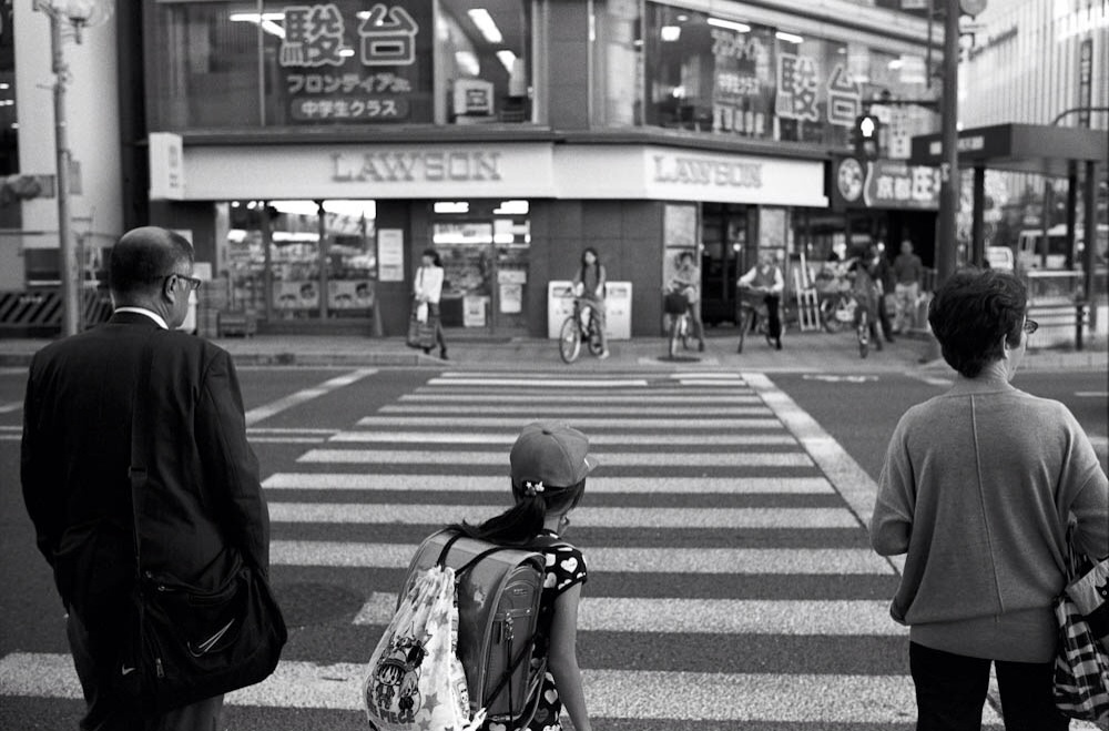 Taken at a crosswalk about a block away from Kyoto Station.