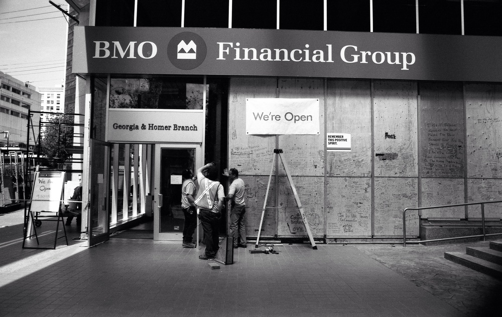 BMO in 2010 just days after the Vancouver Stanley Cup Riots.