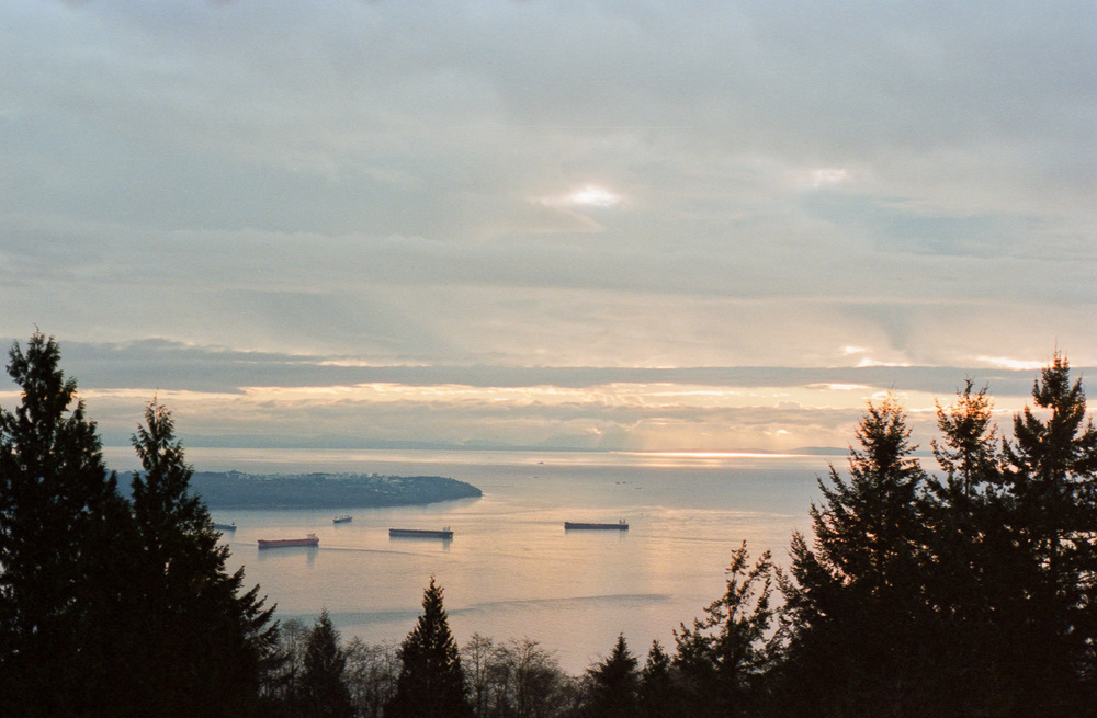 Even when the clouds roll in, Vancouver is beautiful. I think this was shot from up on Cypress at one of the lookout points.