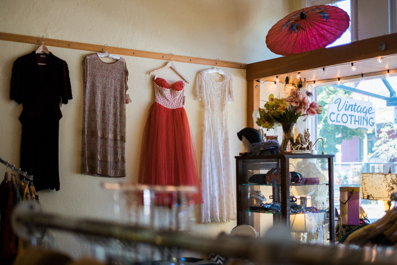 Simply Vintage Boutique (located in Portland, OR). This is where we found the dress after walking and driving around Portland.