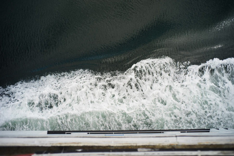 I forget how powerful the waters can be sometimes. I just have to look down from the deck and I'm very quickly reminded.