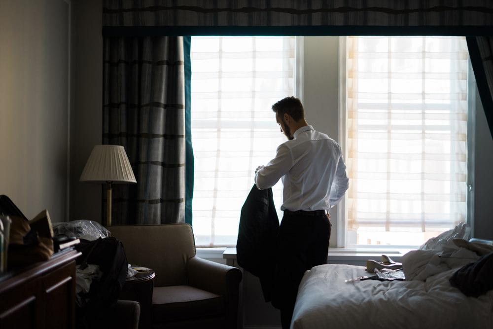 empress hotel groom getting ready