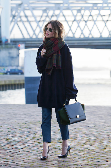 A great pre-fall look from perennially cool Dutch blogger Christine from FashNChips.