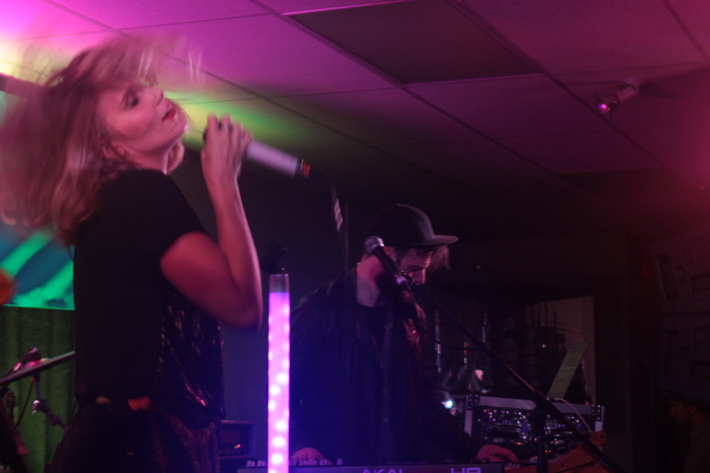 Meg Warren and Josh Banfield of Repartee at Lions Club