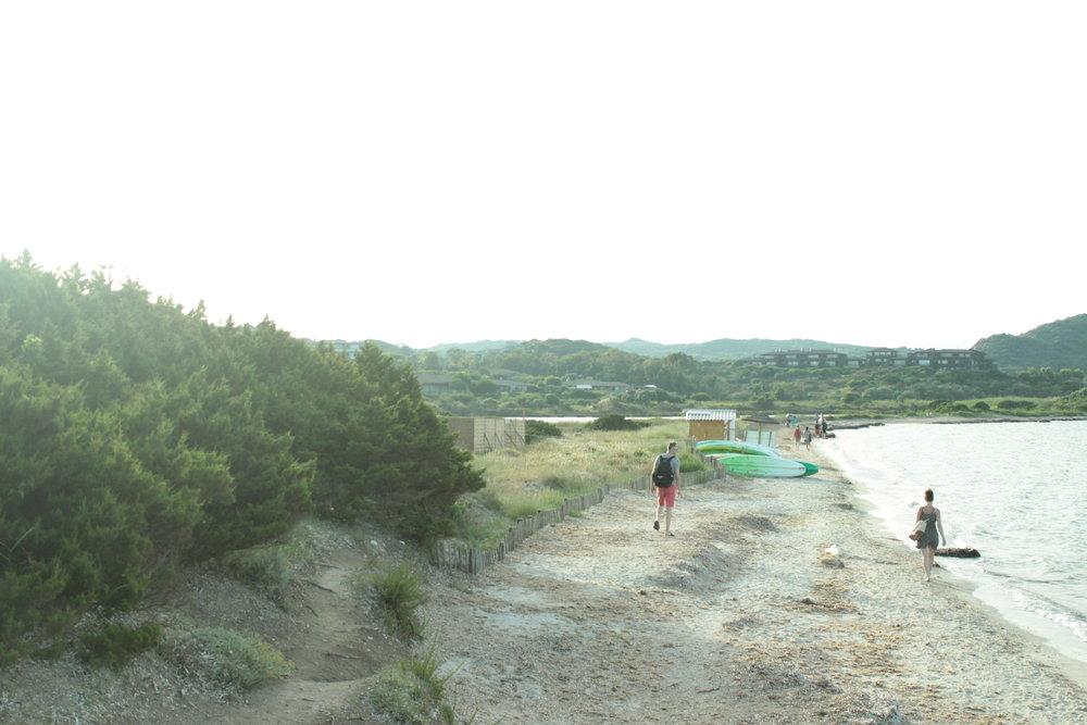 La plage du Petit Sperone.