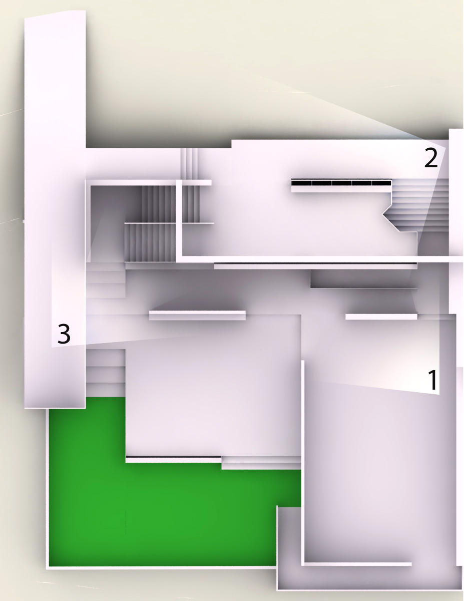 1, 2, and 3 correspond to the following renders above.