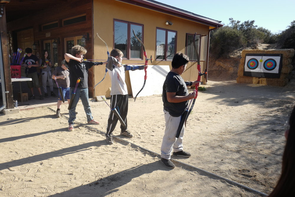 Mind & Body activities on the Mesa include aerial skills, ceramics, and archery.