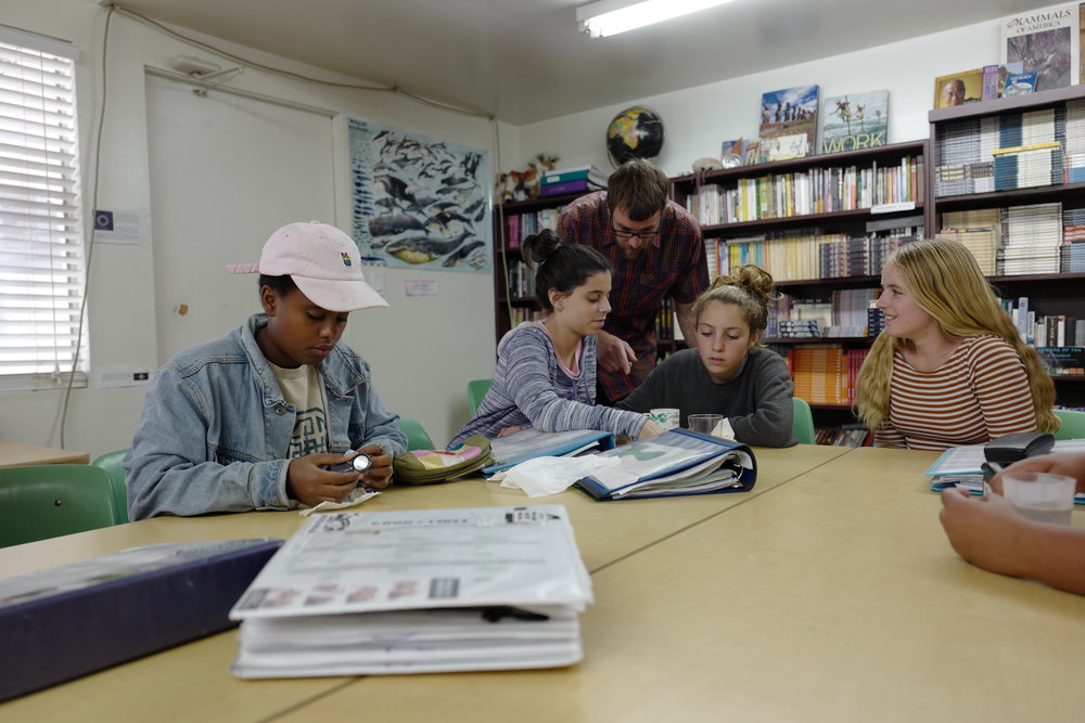 Academic classes on campus in Woodland Hills.