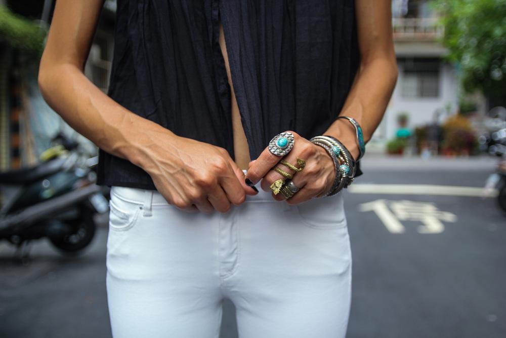 WearingPippalTop ,ZARAskinny jeans