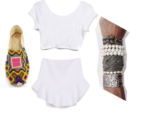 Wearing   Zara   Skirt //   Z&L   Espadrilles //   Karen Walker   Sunglasses