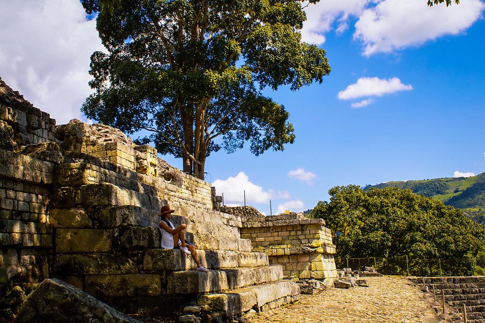 At Parque Arqueológico de Copán Ruinas