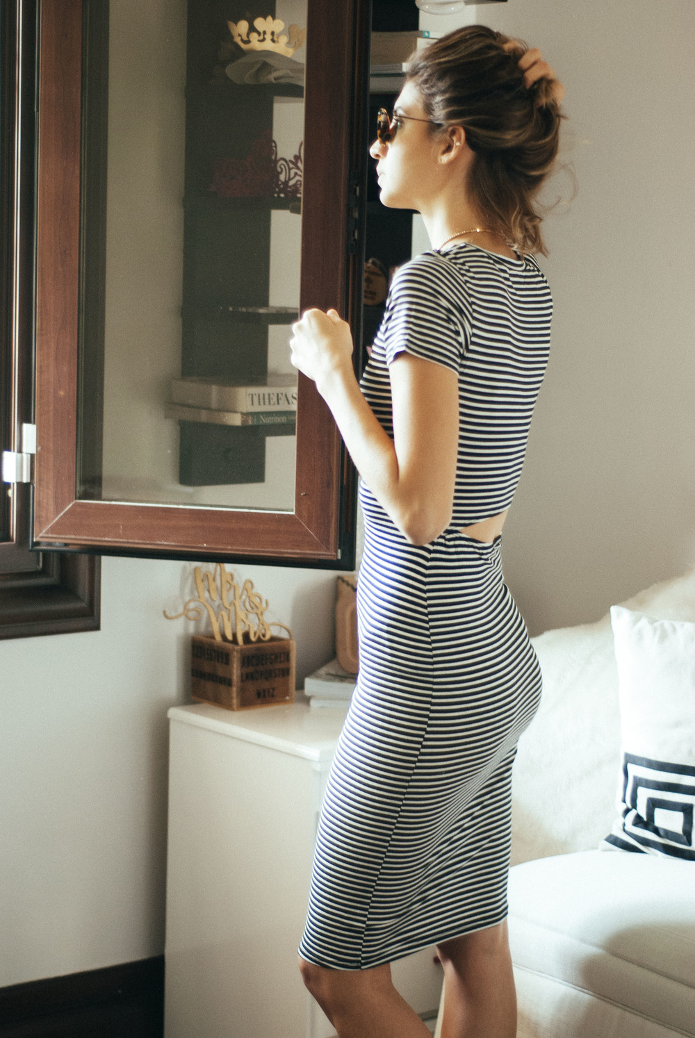 Vestido Midi de Lineas / Striped Midi dress