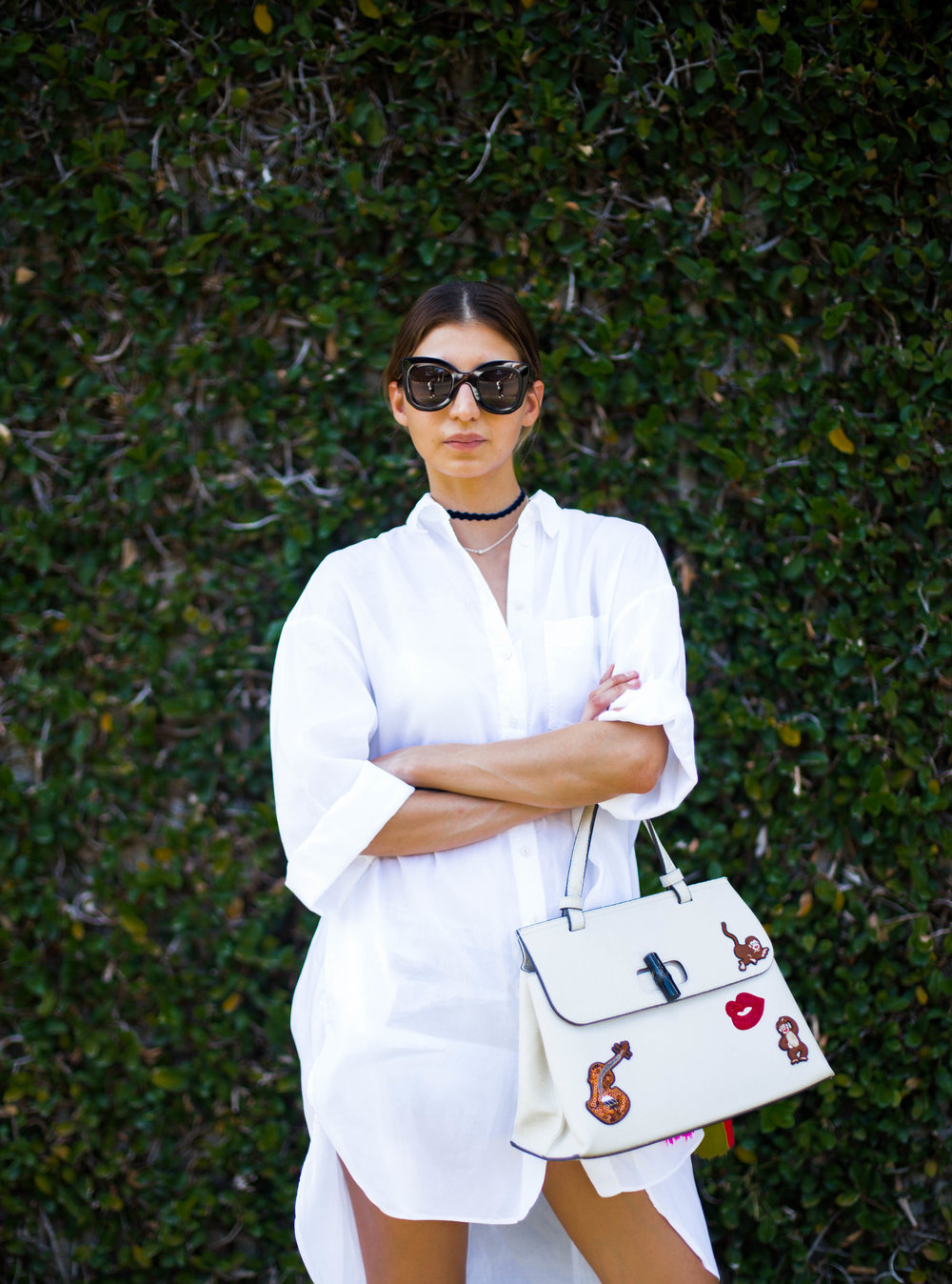 Shirt @Zara / Bag @THEB1RD / Sunglasses @Celine / Shoes  @Gucci