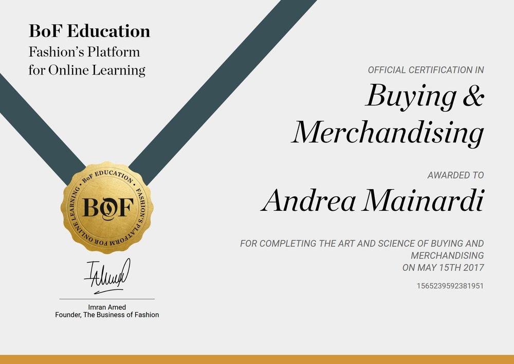 Buying & Merchandising