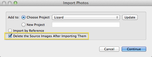 Step 3: Import into Aperture