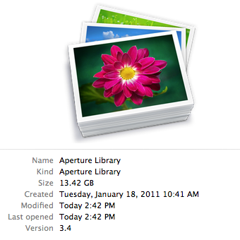13.4GB library, w/ half-size previews