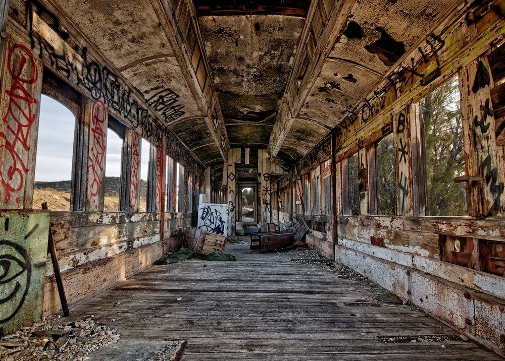 Abandoned Railcar Interior, Jacumba, California