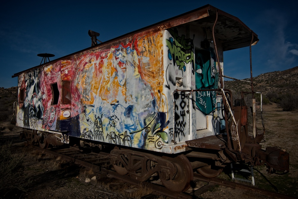 The Grafitti Train, Jacumba, California