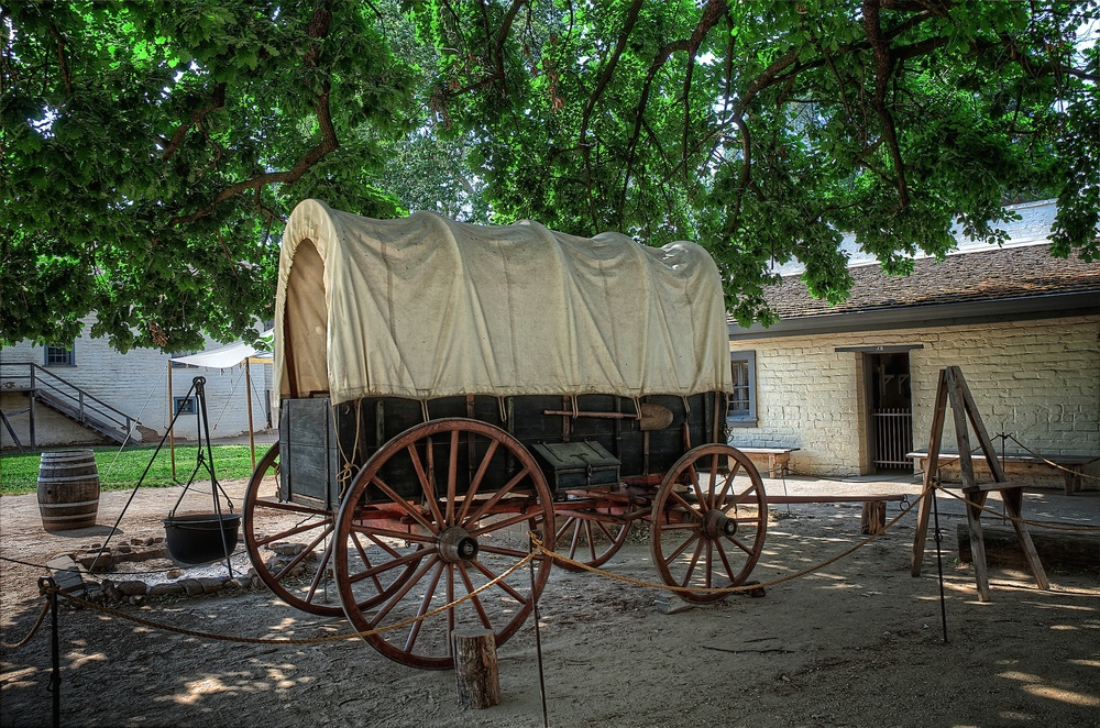 Stagecoach, Sutter's Fort, Sacramento, California
